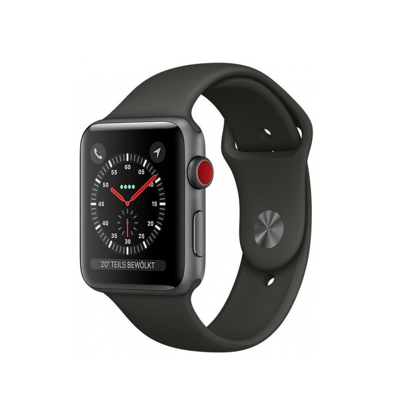 Apple Watch Series 3 Cellular 42mm Gray Aluminum Case with Gray Sport Band MR302 hình 0