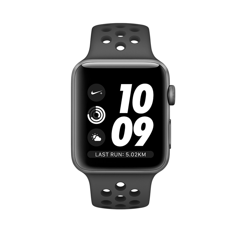 Apple Watch Series 3 38mm Gray Aluminum Case with Anthracite/Black Nike Sport Band MQKY2 hình 1