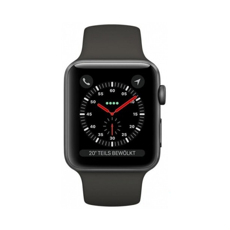 Apple Watch Series 3 Cellular 42mm Gray Aluminum Case with Gray Sport Band MR302 hình 1