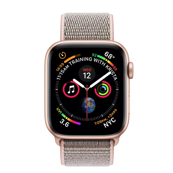 Apple Watch Series 4 44mm GPS Gold Stainless Steel Case with Gold Milanese Loop MU6G2 hình 0