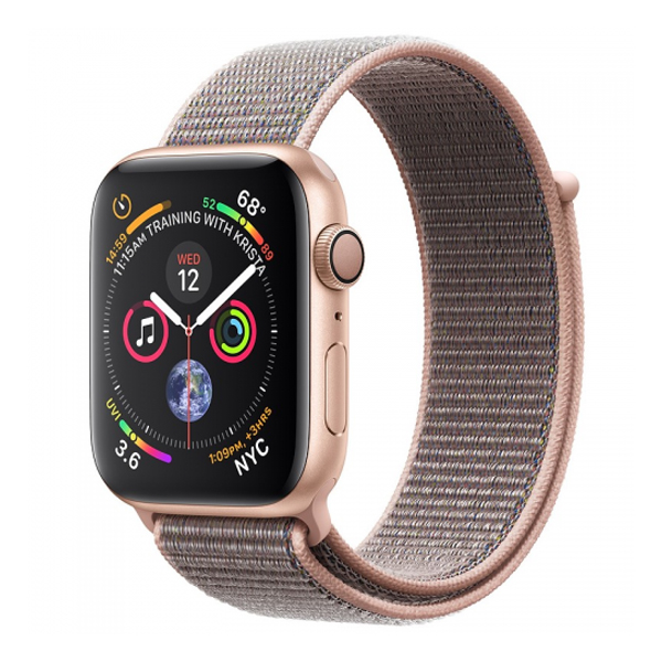 Apple Watch Series 4 44mm GPS Gold Stainless Steel Case with Gold Milanese Loop MU6G2 hình 1