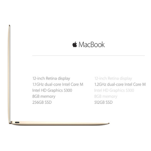Macbook 12.0 inch 256GB MNYK2 (2017) Gold hình 4