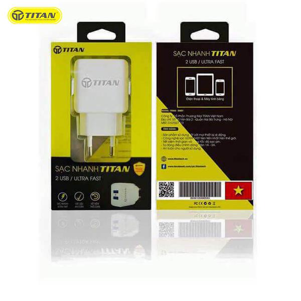 Sạc TITAN SN07 2A (2 cổng USB) hình 4