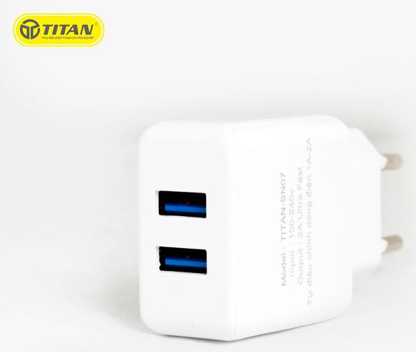 Sạc TITAN SN07 2A (2 cổng USB) hình 0