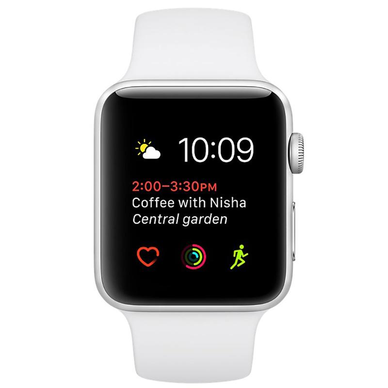 Apple Watch Series 2 42mm Silver Aluminium Case-MNPJ2 hình 1