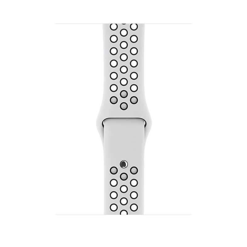 Apple Watch Series 3 38mm Silver Aluminum Case with Pure Platinum/Black Nike Sport Band MQKX2 hình 2