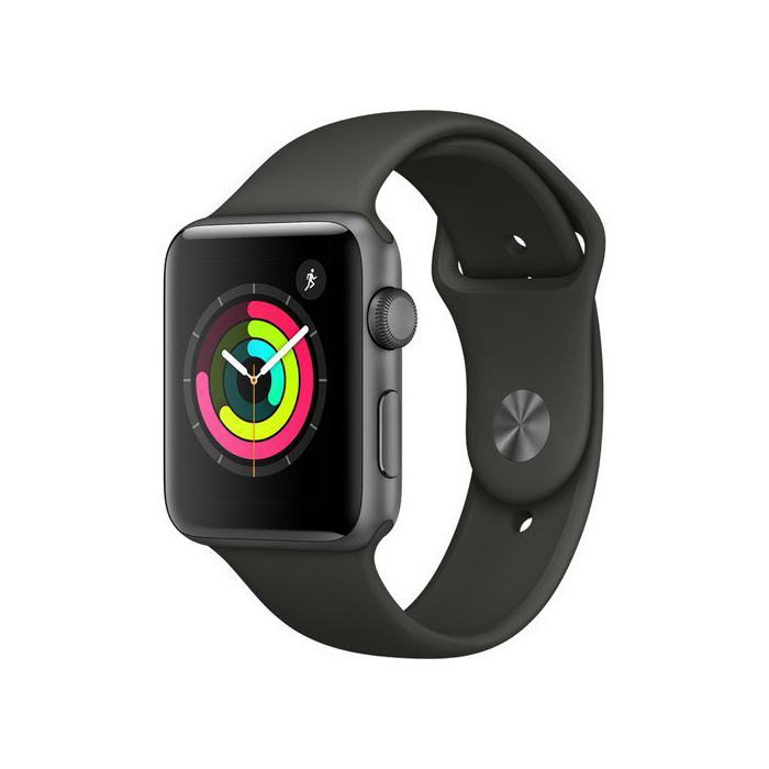 Apple Watch Series 3 38mm Gray Aluminum Case with Gray Sport Band MR352 hình 0