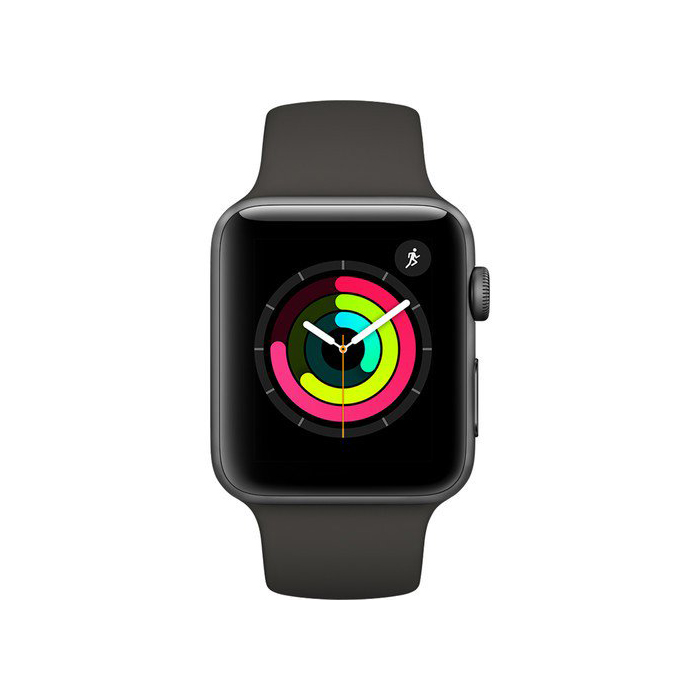 Apple Watch Series 3 38mm Gray Aluminum Case with Gray Sport Band MR352 hình 2