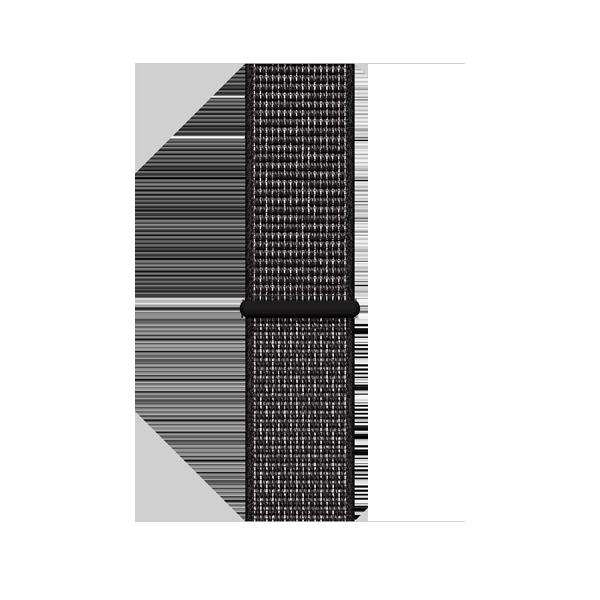 Apple Watch Series 4 40mm GPS Black Aluminun case with Summit Black Nike Sport Loop MU7G2 hình 2