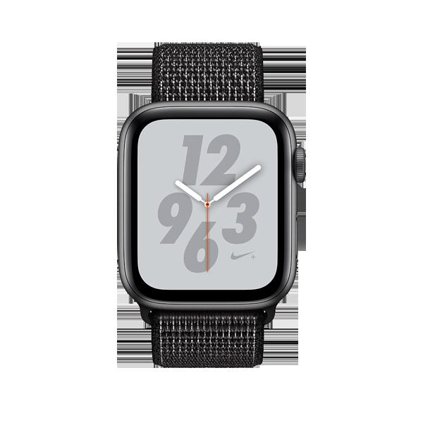 Apple Watch Series 4 40mm GPS Black Aluminun case with Summit Black Nike Sport Loop MU7G2 hình 1