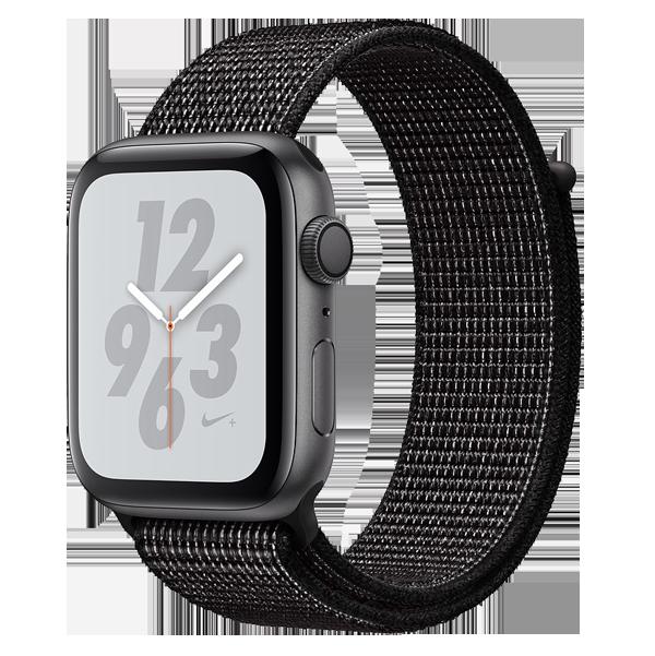 Apple Watch Series 4 40mm GPS Black Aluminun case with Summit Black Nike Sport Loop MU7G2 hình 0