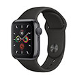 Apple Watch Series 5 44mm GPS Space Gray Aluminum Case with Sport Band Black MWVF2 hình 1