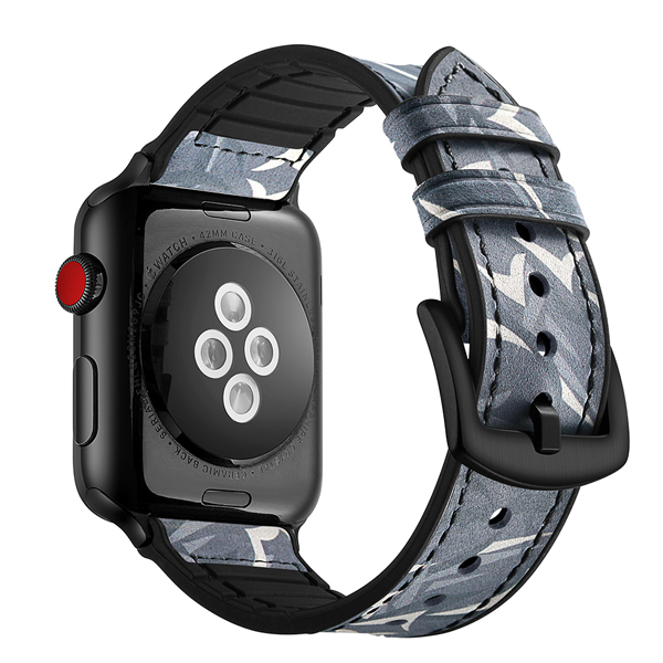 Dây đồng hồ Jinya Camouflage Leather Apple Watch (42mm/44mm) hình 1