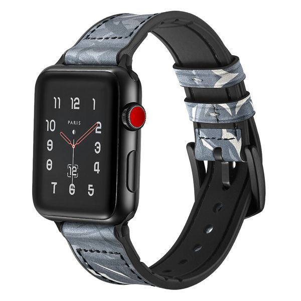 Dây đồng hồ Jinya Camouflage Leather Apple Watch (42mm/44mm) hình 0
