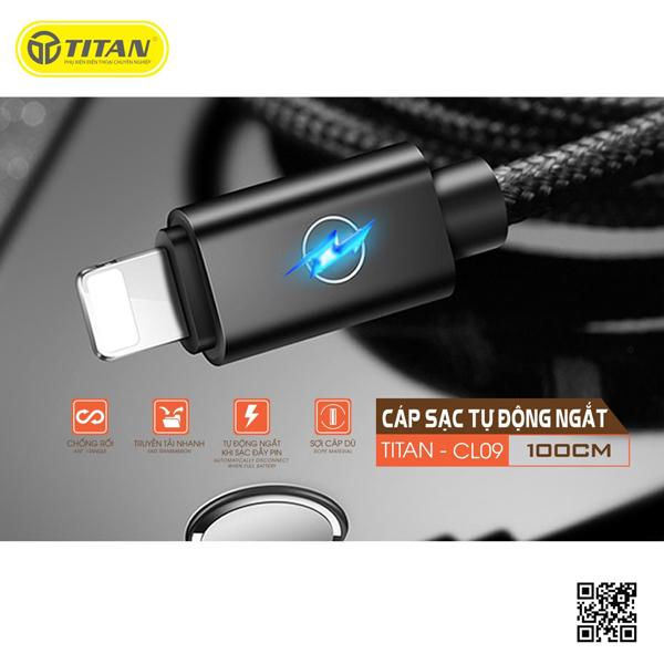 TITAN cable Lightning đèn LED tự ngắt CL09 (1m) hình 0
