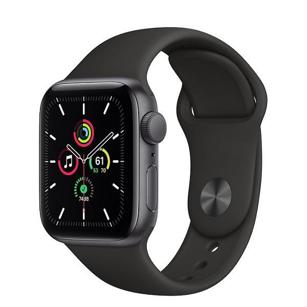 Apple Watch SE 44mm GPS Space Gray Aluminium Case with Black Sport Band MYDT2 hình 0