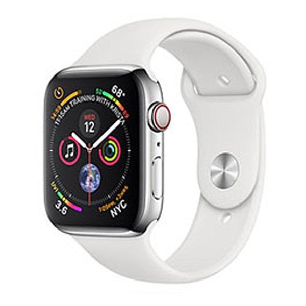 Apple Watch Series 4 40mm GPS Aluminum Case witch White Sport Band MU642 hình 0