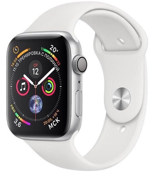 Apple Watch Series 4 40mm GPS Aluminum Case with White Sport Band MU642 hình 0