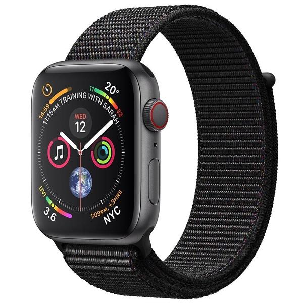 Apple Watch Series 4 44mm GPS Space Black Aluminum Case with Black Sport Loop MU6E2 hình 0