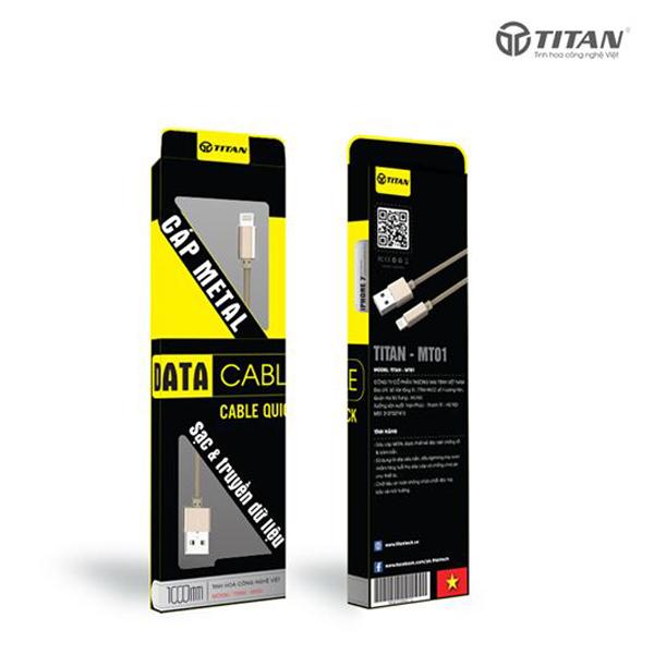Cáp TITAN Lightning Metal MT01 (1m) hình 2