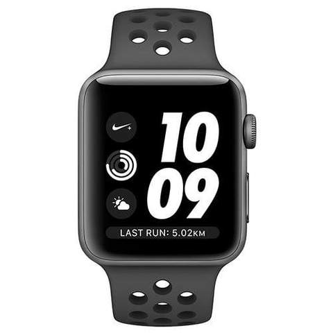 Apple Watch Series 3 38mm GPS Space Gray Aluminum Case with Anthracite/Black Nike Sport Band MTF12 hình 1