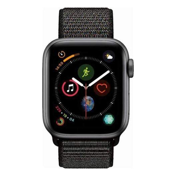 Apple Watch Series 4 40mm GPS Space Black Aluminum Case with Black SportLoop MU672 hình 1