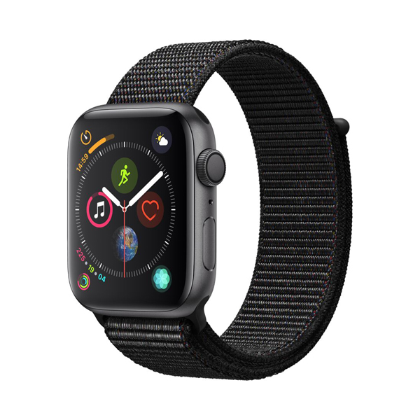 Apple Watch Series 4 40mm GPS Space Black Aluminum Case with Black SportLoop MU672 hình 0