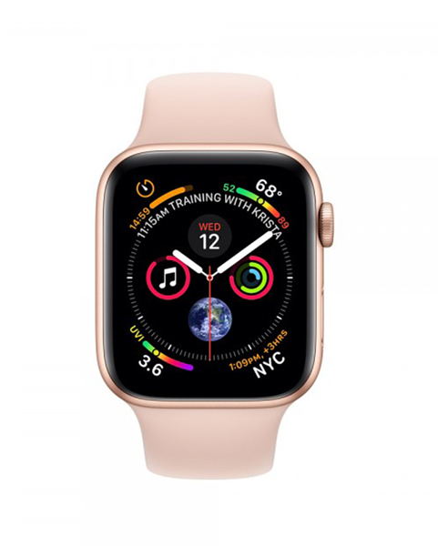 Apple Watch Series 4 44mm GPS Gold Aluminum Case with Pink Sand Sport Band MU6F2 hình 1