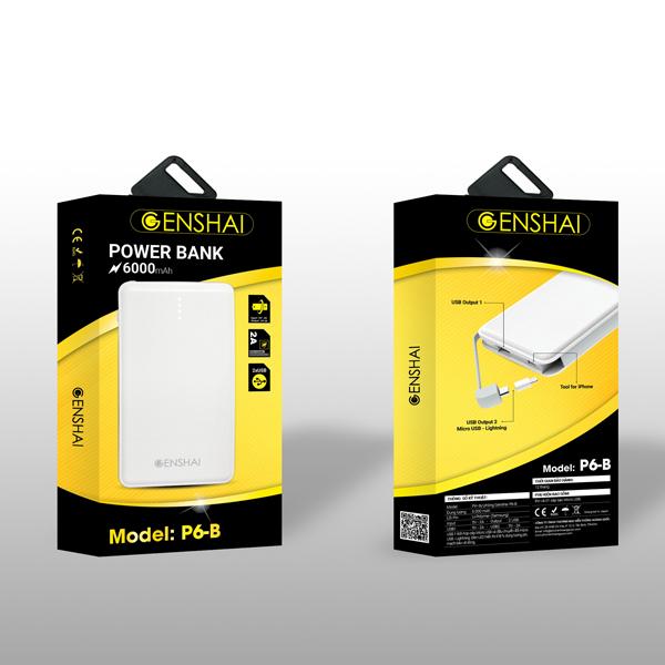 Pin dự phòng Genshai P6-B 6000mAh hình 6