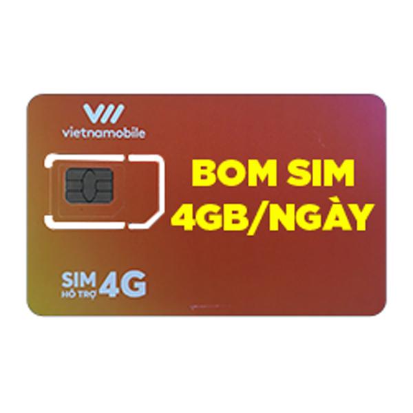 Vietnamobile BOM sim 4GB/ ngày hình 0