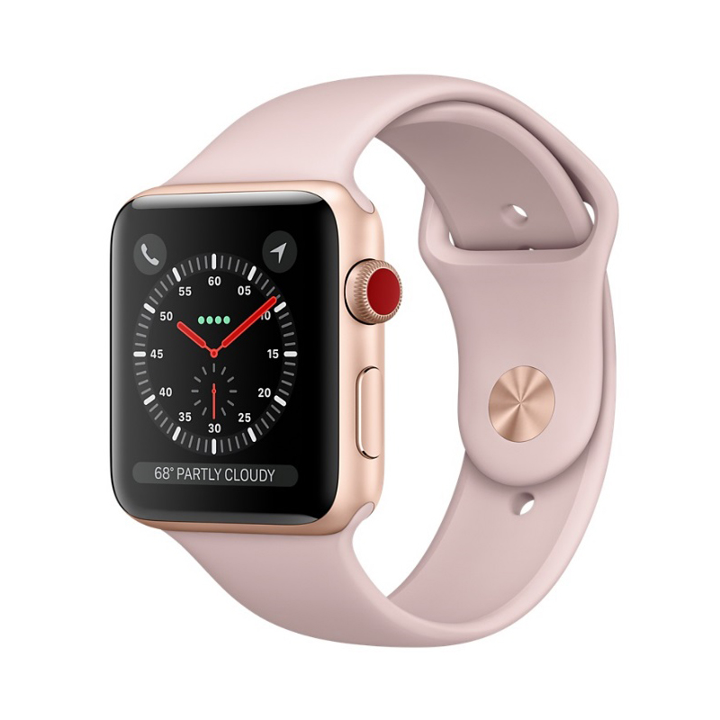 Apple Watch Series 3 Cellular 38mm Gold Aluminum Case - MQJQ2 (Trôi bảo hành , chưa Active ) hình 0