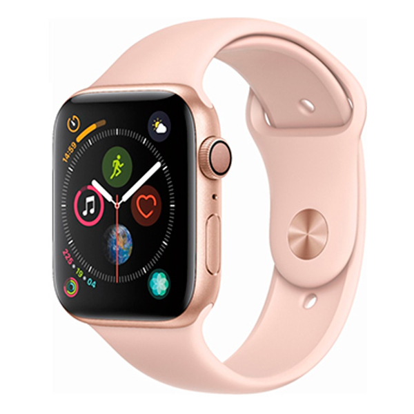 Apple Watch Series 4 40mm GPS Gold Aluminum Case with Pink Sand Sport Band MU682 hình 0