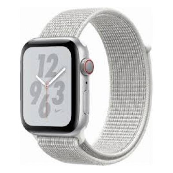 Apple Watch Series 4 40mm GPS Silver Aluminun case with Summit White Nike Sport Loop MU7F2 hình 0