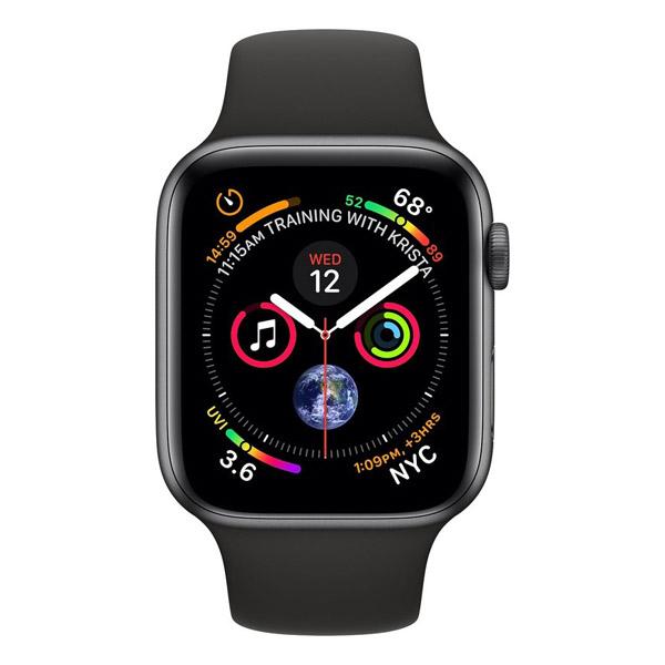 Apple Watch Series 4 44mm LTE Black Sport Band MTUW2 hình 1