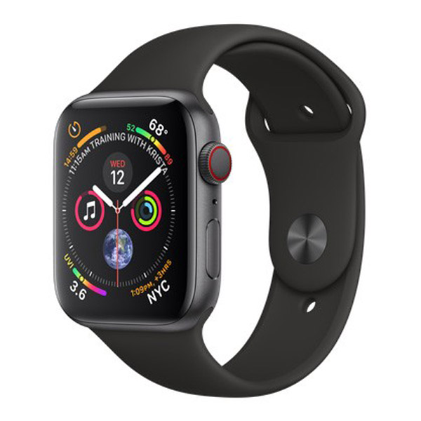 Apple Watch Series 4 44mm LTE Black Sport Band MTUW2 hình 0
