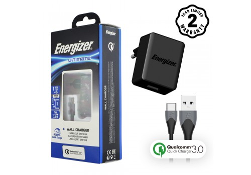 Sạc Energizer 18W QC3.0 (kèm cáp Type C) AC1Q3EUUC23 hình 1