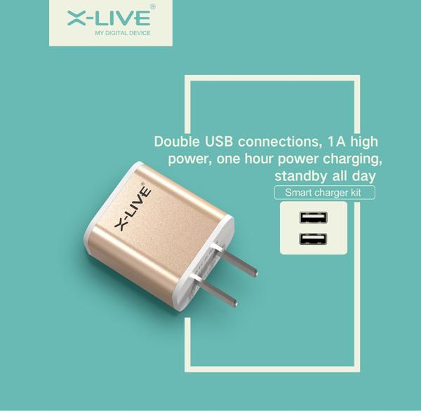 Sạc X-Live Smart A9 (2 cổng USB, 2.1A) hình 1