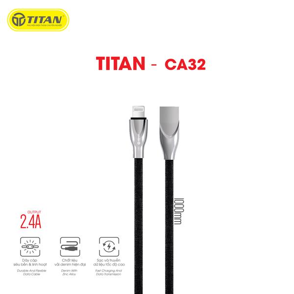 Cáp TITAN Lightning Zinc Alloy CA32 hình 1