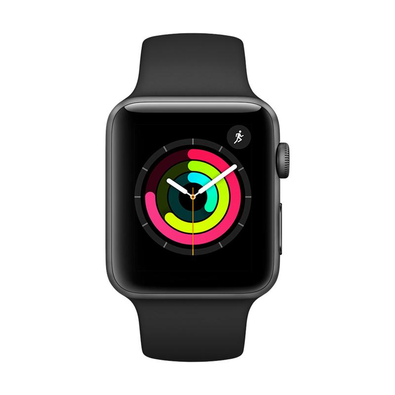 Apple Watch Series 3 38mm Gray Aluminum Case-MQKV2 hình 2