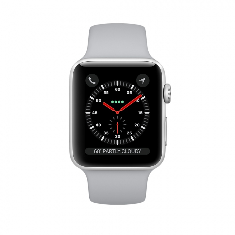 Apple Watch Series 3 Cellular 38mm Silver Aluminum Case - MQJN2 ( Trôi bảo hành , chưa Active ) hình 1