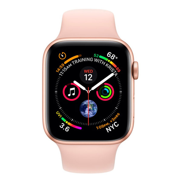Apple Watch Series 4 40mm LTE Gold Aluminum Case with Pink Sand Sport Band MTUJ2 hình 1