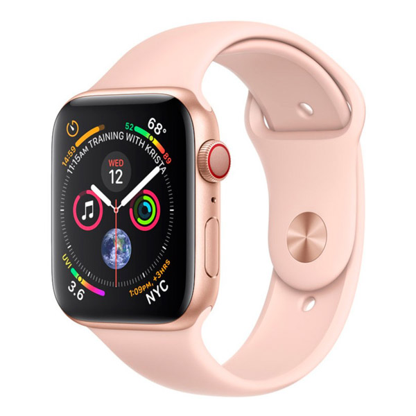 Apple Watch Series 4 40mm LTE Gold Aluminum Case with Pink Sand Sport Band MTUJ2 hình 0