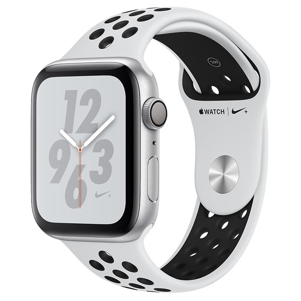 Apple Watch Series 4 44mm GPS Silver Aluminun case with Pure Platium Nike Sport Band MU6K2 hình 0