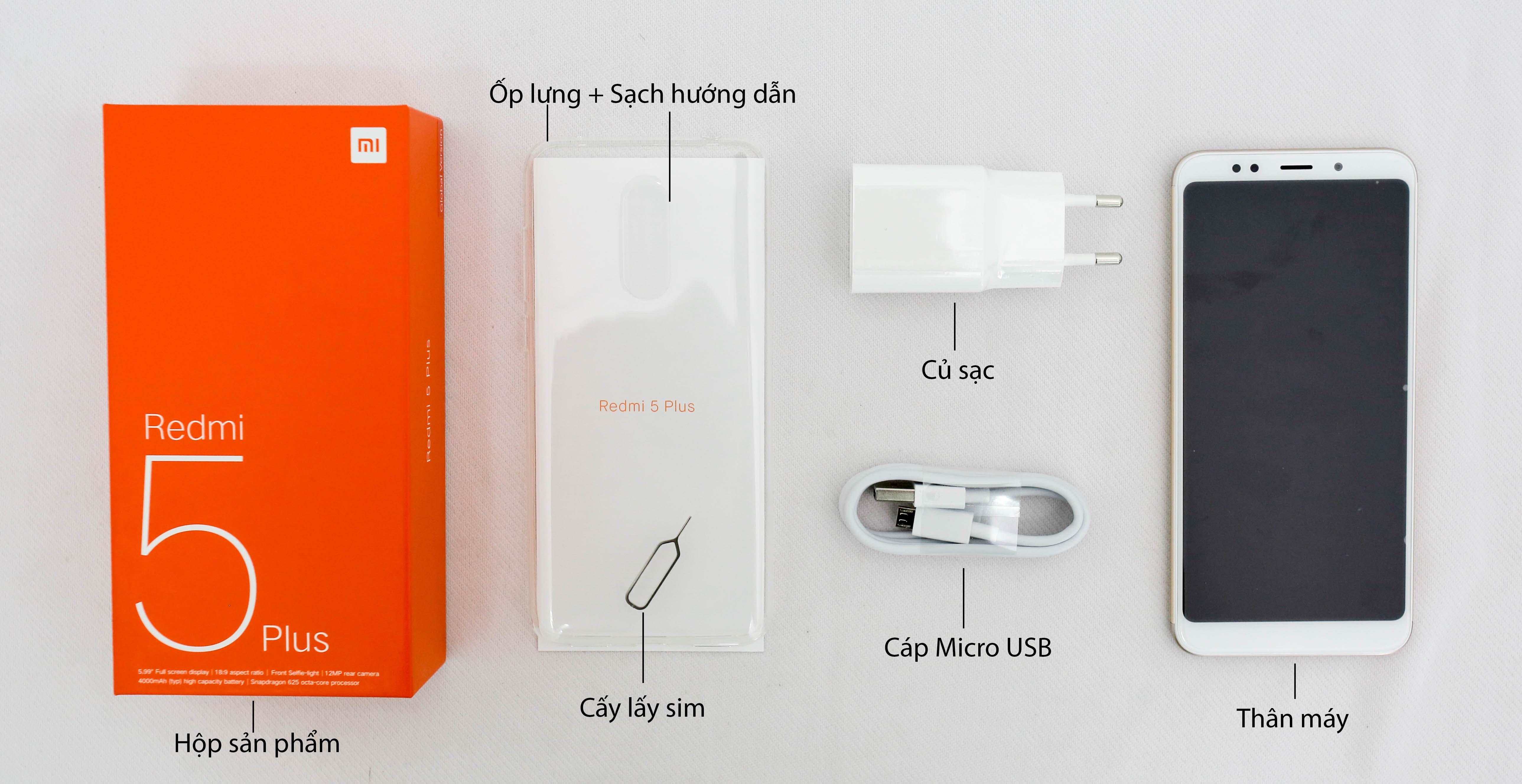 Xiaomi Redmi 5 Plus 32Gb Ram 3Gb hình sản phẩm 1