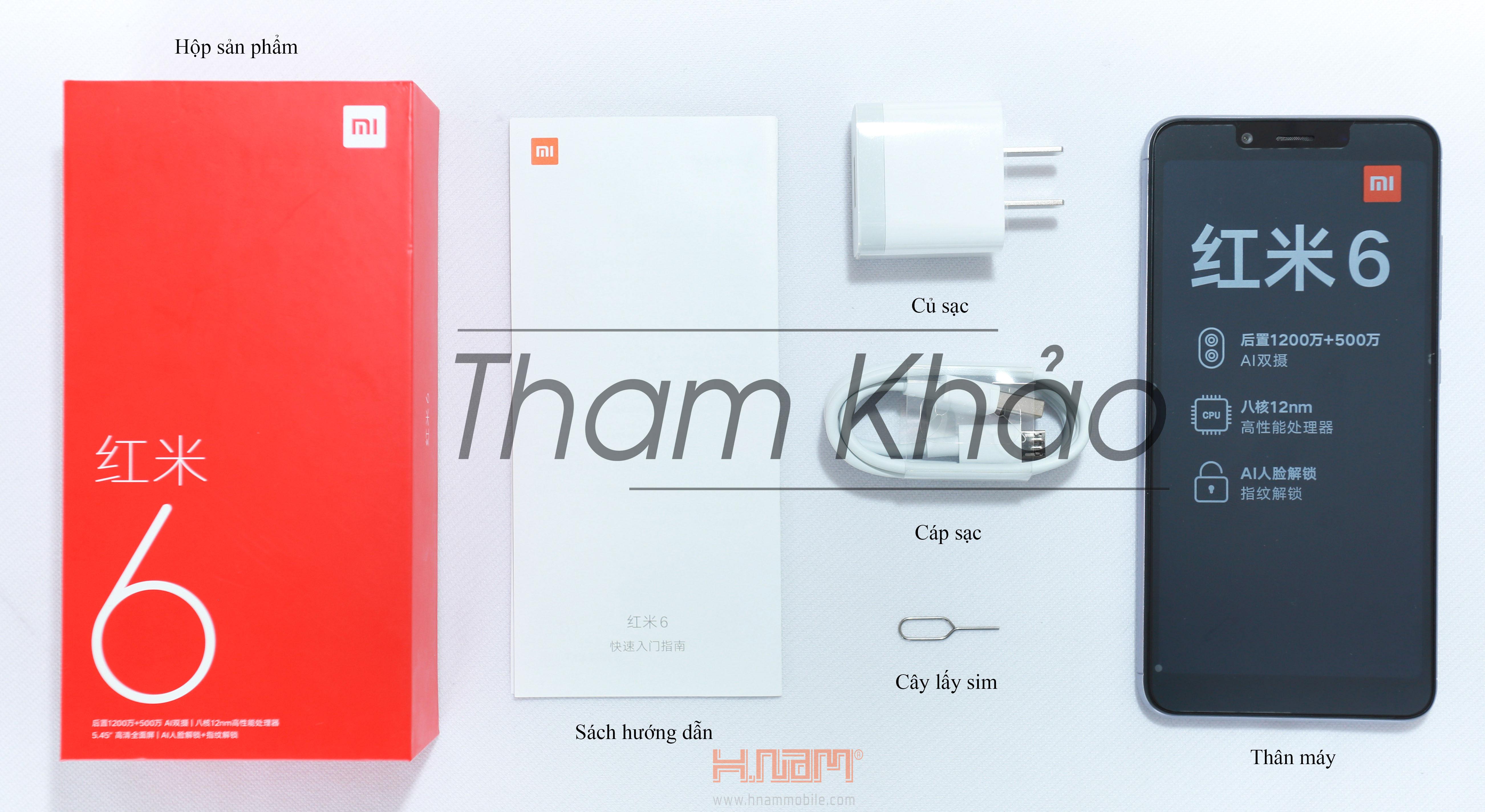 Xiaomi Redmi 6 32GB Ram 3GB hình sản phẩm 0