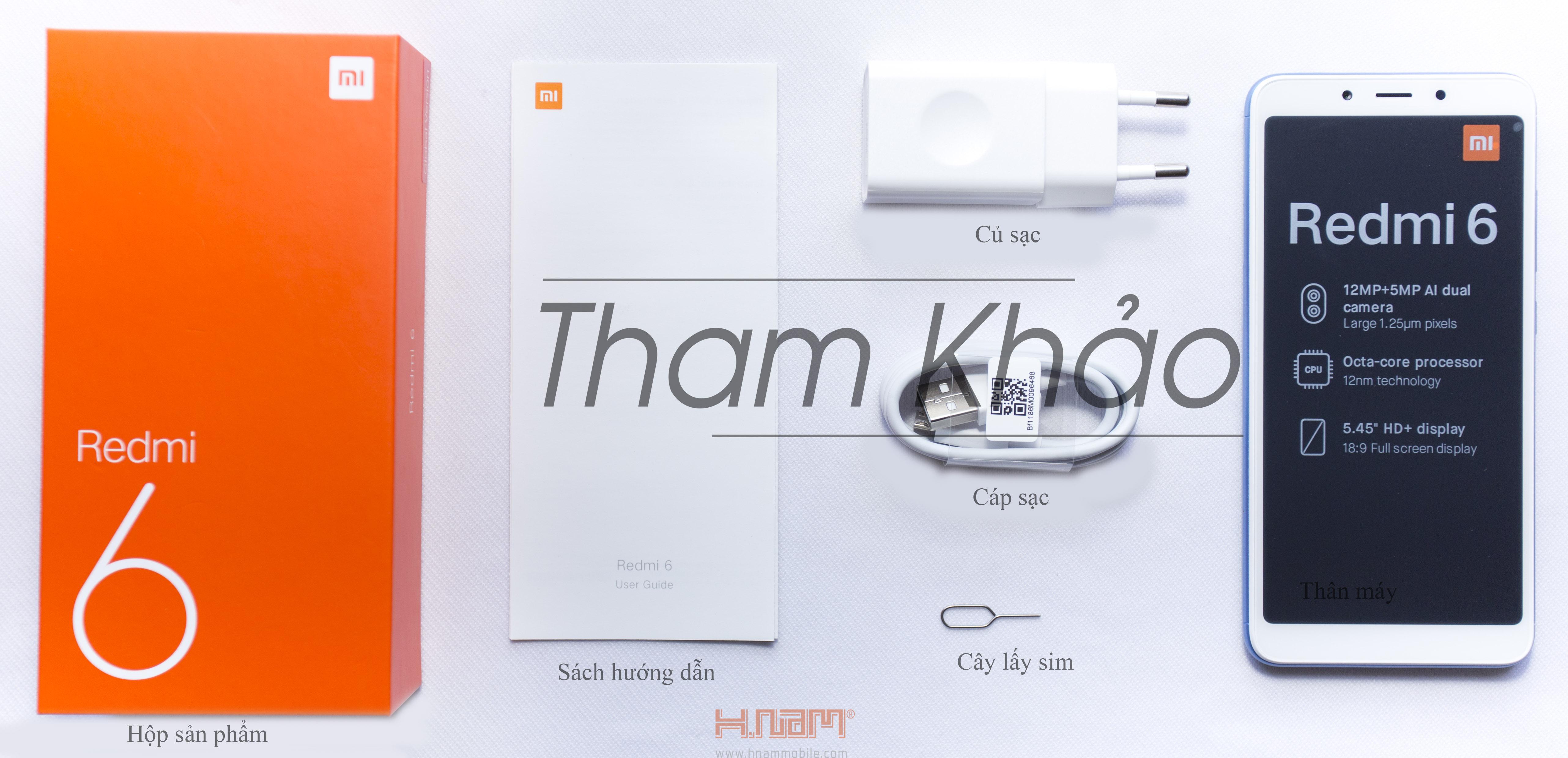 Xiaomi Redmi 6 64GB Ram 4GB hình sản phẩm 0