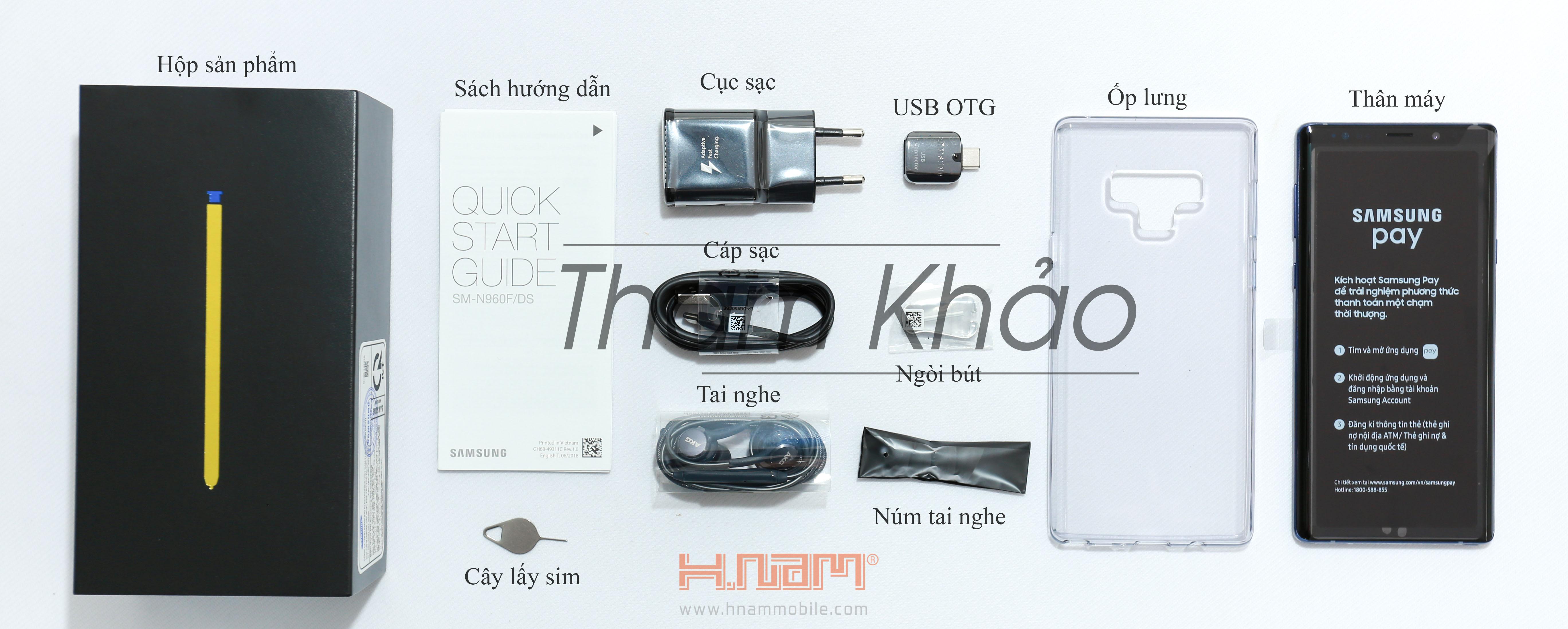 Samsung galaxy Note 9 128Gb Mỹ ( 191 Khánh Hội ) hình sản phẩm 0