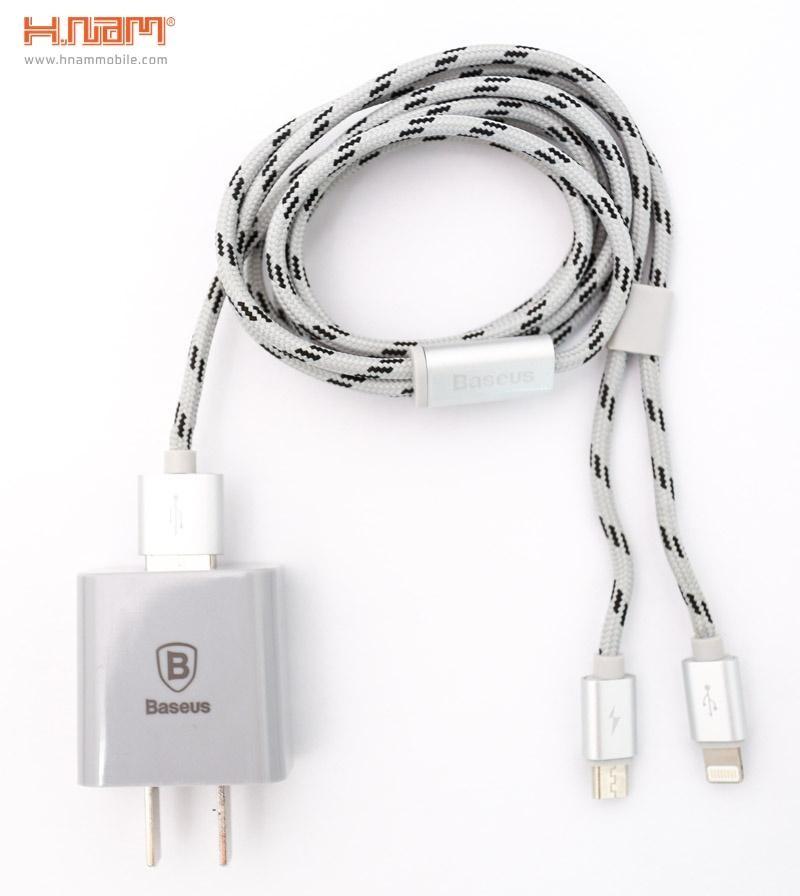 Combo sạc - cáp Baseus (Lightning/Micro)