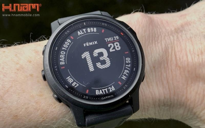 Đồng hồ thông minh Garmin Fenix 6S Carbon Gray - Sapphire