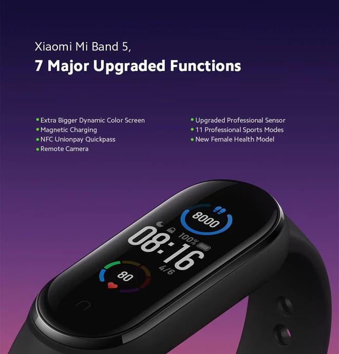 vòng đeo tay thông minh Xiaomi Mi band 5